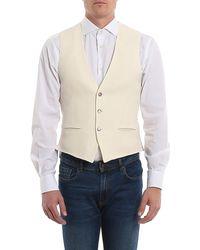 Luigi Bianchi Mantova Cotton And Linen Blend Waistcoat - Natural