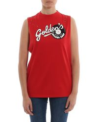 Golden Goose Deluxe Brand Studs Details Top - Red