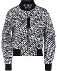 Moose Knuckles Bomber Nero Con Stampe