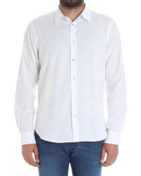 Paul Smith - White Jaquard Shirt - Lyst
