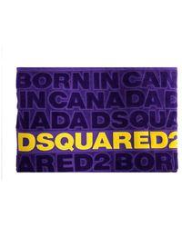 DSquared² Asciugamano Da Mare Logato Viola
