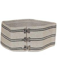Missoni Oversized Striped Belt - Natural