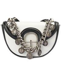 Roberto Cavalli Onice Leather Cross Body Bag - White