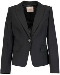 Twin Set Tech Fabric Blazer - Black