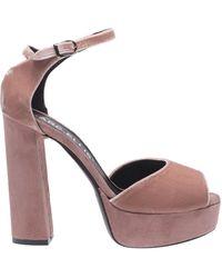Marc Ellis Ankle-strap Pink Suede Sandals