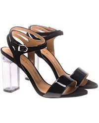 Marc Ellis - Suede And Patent Leather Sandals - Lyst