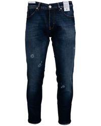 PT Torino Jeans Affusolati Con Strappi Blu