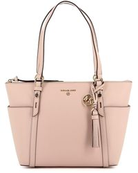 Michael Kors Nomad Small Saffiano Leather Tote Bag - Pink