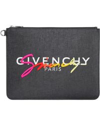 Givenchy Busta piatta con logo - Nero