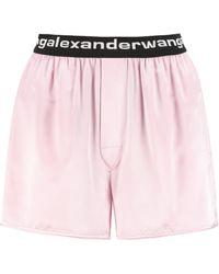 Alexander Wang Silk Satin Shorts - Pink
