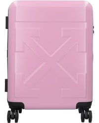 Off-White c/o Virgil Abloh Polycarbonate Hardshell Suitcase - Pink