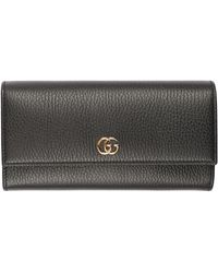 Gucci - Leather Wallet With GG Detail - Lyst