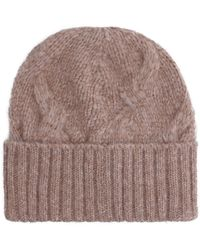 Séfr Beanie Cable Knit Hat - Brown