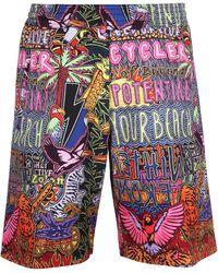 Neil Barrett Bermuda in cotone stampato - Multicolore