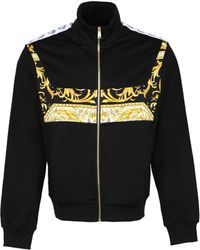 Versace Barocco-printed Sweatshirt Black