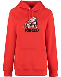 KENZO Cotton Hoodie - Red