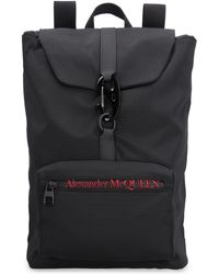 Alexander McQueen Urban Logo Detail Nylon Backpack - Black