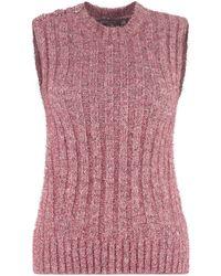 Ganni Knitted Vest - Pink