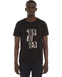 Saint Laurent T Shirt Con Stampa Logo - Nero
