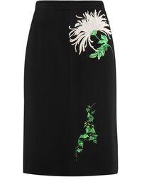 N°21 Printed Pencil Skirt - Black