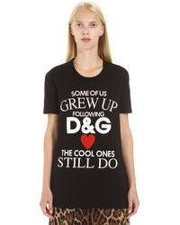 Dolce & Gabbana Black T-shirt With Lettering Logo