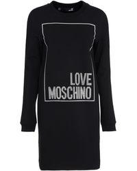 Love Moschino Abito in felpa con logo - Nero