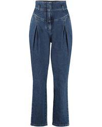 Alberta Ferretti High-rise Carrot-fit Jeans - Blue