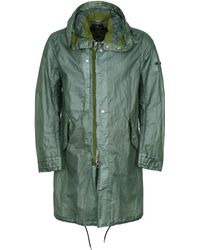 Stone Island Shadow Project - Hooded Techno Fabric Raincoat - Green