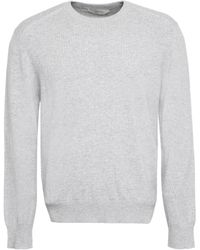 Z Zegna Crewneck Knitted Sweater - Gray