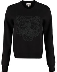 KENZO Wool Blend Jumper - Black