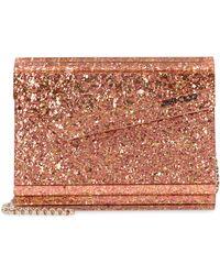 Jimmy Choo Candy Glitter Acrylic Box Clutch - Orange