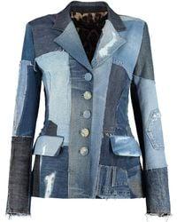 Dolce & Gabbana Denim Blazer - Blue