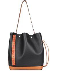 MCM Milano Leather Bucket Bag - Black