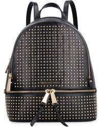 MICHAEL Michael Kors Rhea Leather Backpack - Black