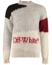 Off-White c/o Virgil Abloh Maglione in misto mohair - Grigio