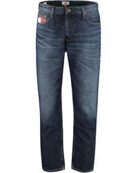 Tommy Hilfiger Jeans straight leg a 5 tasche - Blu