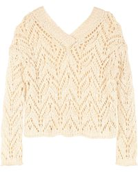 Forte Forte Openwork-knit Pullover - Natural