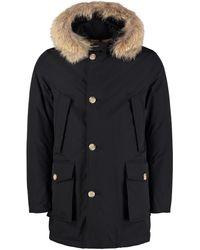 Woolrich Parka Arctic con cappuccio bordato in pelliccia - Blu