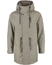 Add Technical Fabric Parka With Internal Removable Down Jacket - Gray
