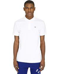Tommy Hilfiger Stretch Cotton Piqué Polo Shirt - White