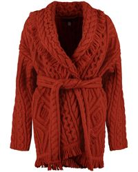 Alanui Wool And Cashmere Cardigan - Red