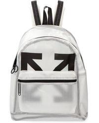 Off-White c/o Virgil Abloh Zaino in PVC con logo - Bianco