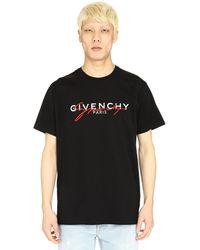 Givenchy T-shirt di cotone con stampa logo - Nero
