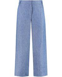 Max Mara Pere Linen Pants - Blue