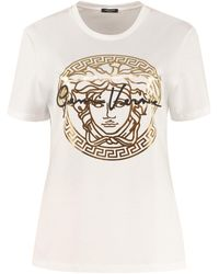 Versace Printed Cotton T-shirt - White