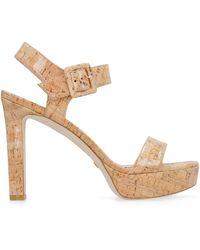 Stuart Weitzman Alesha Heeled Sandals - Natural