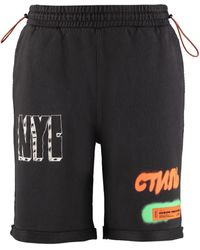Heron Preston Shorts in cotone stampato - Nero