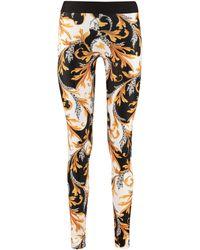 Versace Printed Techno Fabric leggings - Yellow