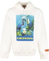 Heron Preston Printed Cotton Sweatshirt - White