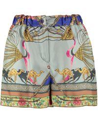 Etro Shorts in seta stampata - Multicolore